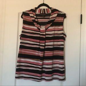 Dana Buchman striped multi-color blouse